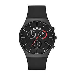 Skagen men's black ion-plated black rubber strap watch - Product number 2232138