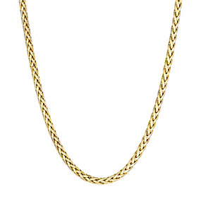 9ct yellow gold diamond cut dainty spiga necklace - Product number 2232332
