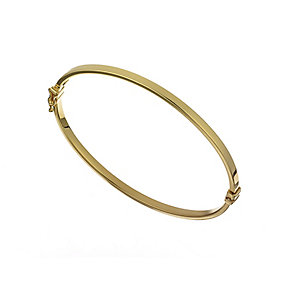 9ct yellow gold smooth square edge bangle - Product number 2232367