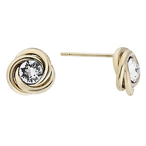 9ct yellow gold crystal stud earrings - Product number 2232464