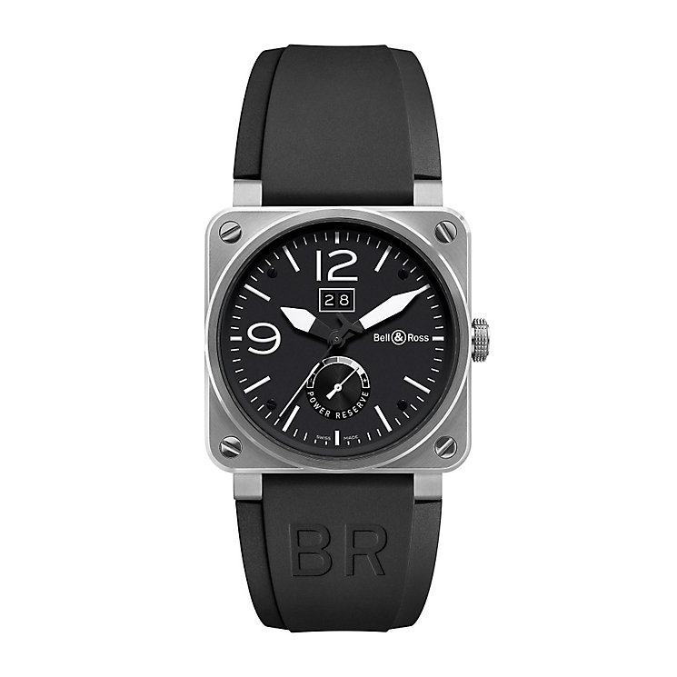 Bell & Ross men's BR03 black rubber strap watch - Product number 2233061