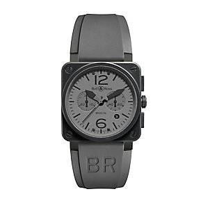Bell & Ross BR 03 men's stainless steel rubber strap watch - Product number 2233096