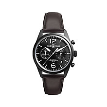 Bell & Ross BRV men's stainless steel leather strap watch - Product number 2233134