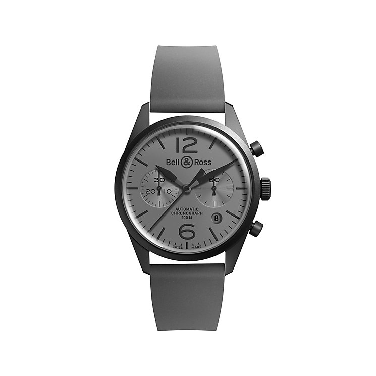 Bell & Ross BRV men's stainless steel leather strap watch - Product number 2233142