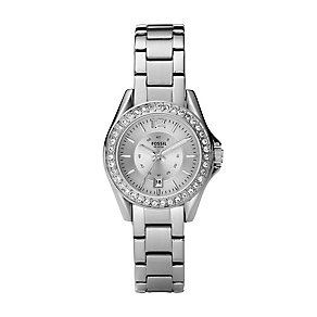 Fossil ladies' stainless steel stone set bracelet watch - Product number 2233193