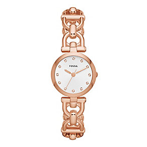 Fossil ladies' rose gold-plated bracelet watch - Product number 2233231