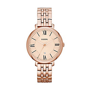 Fossil Jacqueline ladies' rose gold-plated bracelet watch - Product number 2233258