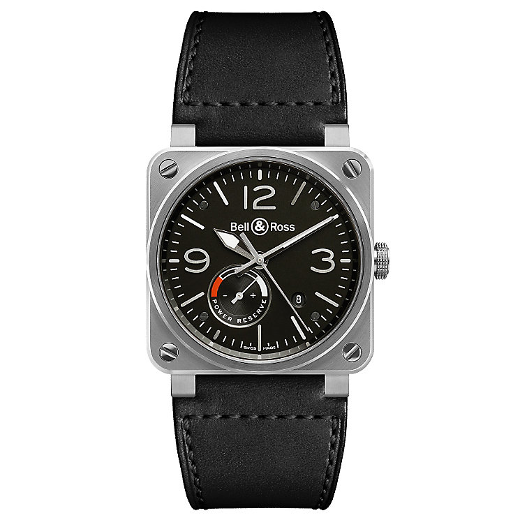 Bell & Ross men's BR03 leather strap watch - Product number 2233312