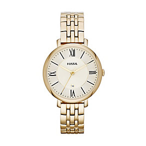 Fossil Jacqueline ladies' gold-plated bracelet watch - Product number 2233363