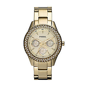 Fossil Cecile ladies' gold-plated chronograph bracelet watch - Product number 2233401