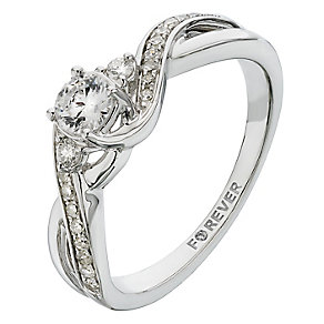 The Forever Diamond 18ct White Gold 2/5 Carat Diamond Ring - Product number 2233584