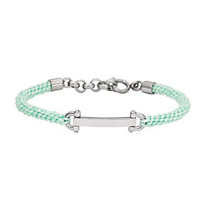 Fossil stainless steel mint cord friendship bracelet - Product number 2233797