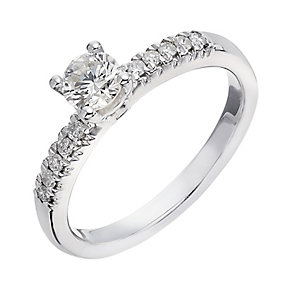 9ct white gold 0.50ct diamond solitaire ring - Product number 2233983