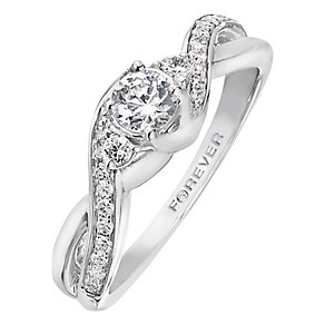 The Forever Diamond 18ct White Gold 1 Carat Diamond Ring - Product number 2234130