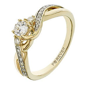 The Forever Diamond 18ct Yellow Gold 2/5 Carat Diamond Ring - Product number 2234548