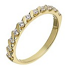 18ct yellow 0.25ct diamond eternity ring - Product number 2234939