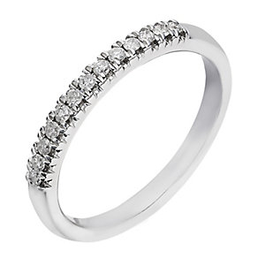 18ct white gold 15 point diamond eternity ring - Product number 2235072