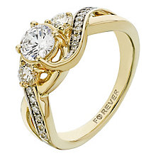 The Forever Diamond 18ct Yellow Gold 1 Carat Diamond Ring - Product number 2235218