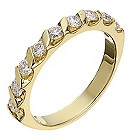 18ct yellow 0.50ct diamond eternity ring - Product number 2235331