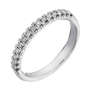 18ct white gold 0.25ct diamond eternity ring - Product number 2235463