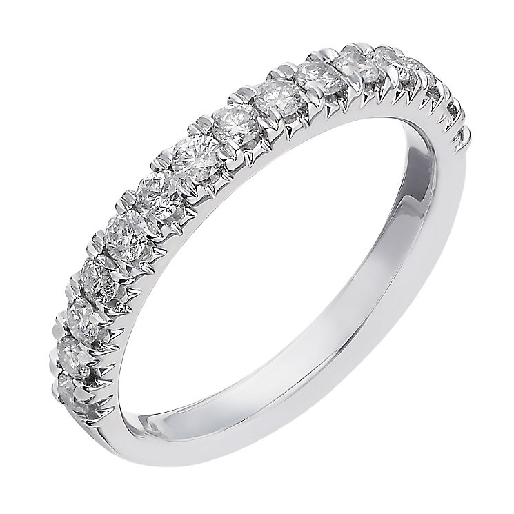 18ct white gold 0.50ct diamond eternity ring - Product number 2236192