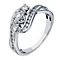 18ct white gold 0.50ct diamond three stone ring - Product number 2236753
