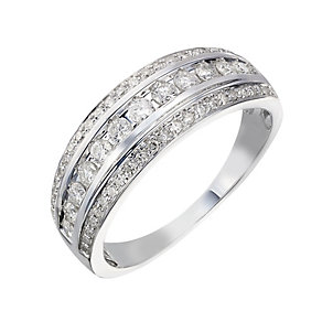 9ct white gold 0.50ct diamond eternity ring - Product number 2239248