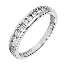9ct white gold 0.33ct diamond channel set eternity ring - Product number 2239388