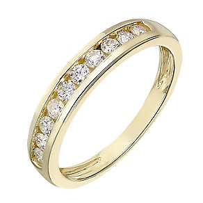 9ct gold 0.33ct diamond channel set eternity ring - Product number 2239531