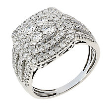 18ct white gold 1.5ct diamond ring with secret diamond - Product number 2241080