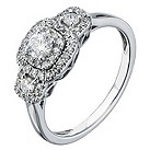 9ct white gold 1/2 carat diamond trilogy ring - Product number 2241234