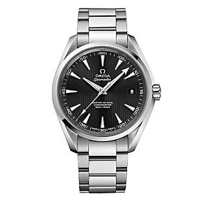Omega men's stainless steel black dial bracelet watch - Product number 2243164