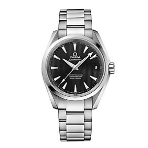 Omega men's stainless steel black dial bracelet watch - Product number 2243172
