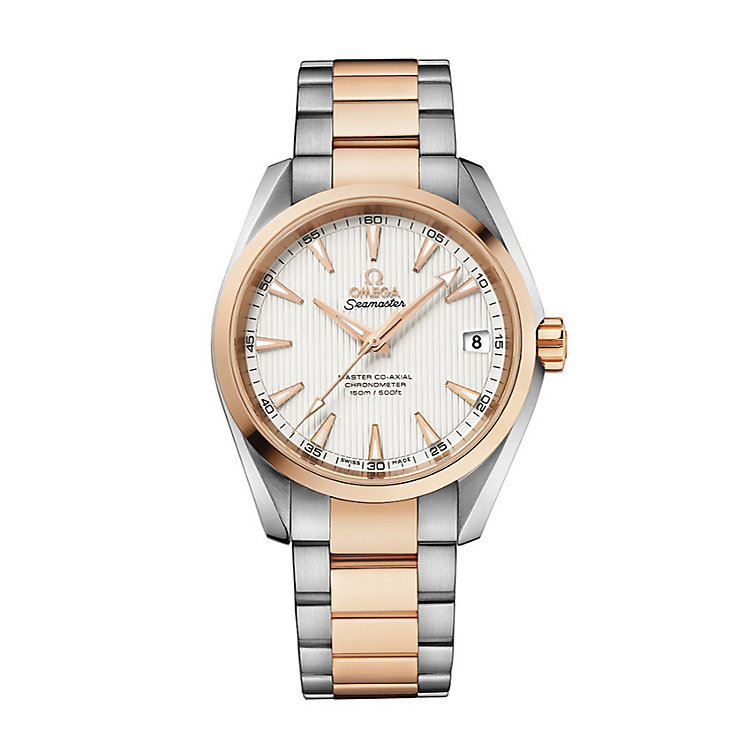 Omega Seamaster Aqua Terra men's two colour bracelet watch - Product number 2243202