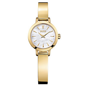 Hugo Boss ladies' gold-plated bangle watch - Product number 2243393