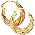 Gold Creole Earrings - Product number 2243903