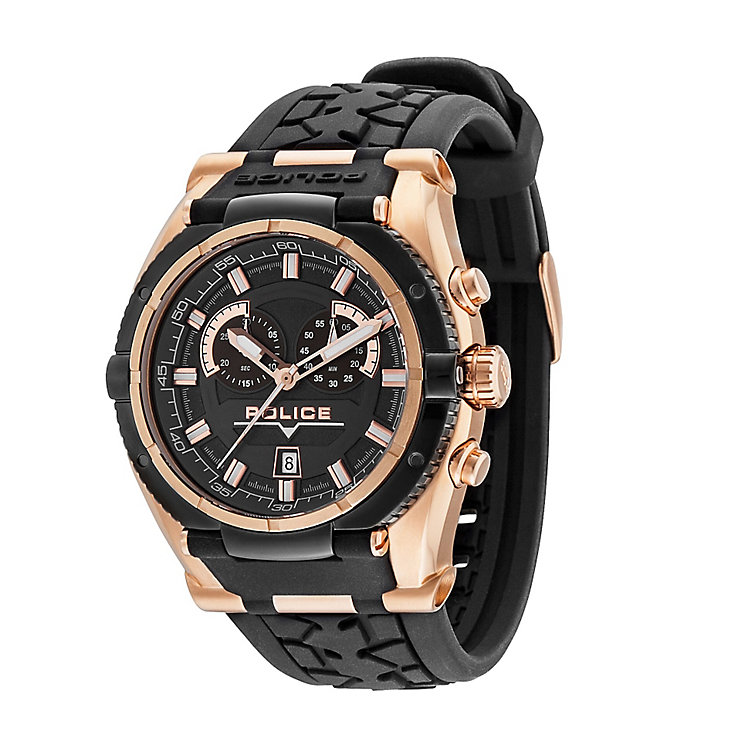 Police Men's Black & Rose Gold Tone Watch - Product number 2244411