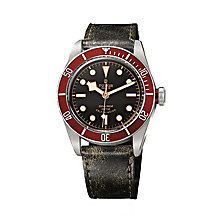 Tudor men's Black Bay stainless steel leather strap watch - Product number 2244535