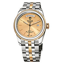 Tudor Glamour Date & Day Ladies' 2 Colour Bracelet Watch - Product number 2244810
