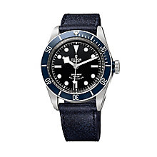 Tudor men's Black Bay leather strap watch - Product number 2245124
