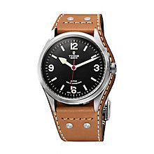 Tudor men's Heritage Ranger leather strap watch - Product number 2245140