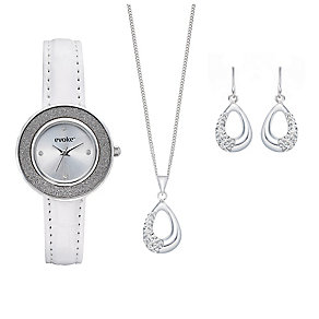 Evoke Sterling Silver & Stainless Steel 4 Piece Set - Product number 2245310