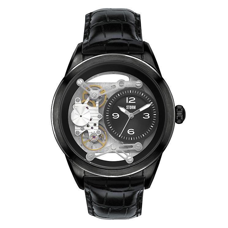 Storm Men's Tiranson Black Leather Quartz Watch - Product number 2247127