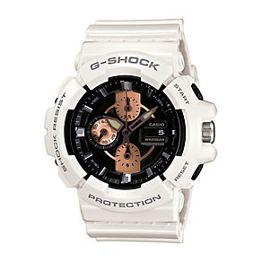 Casio G-Shock men's rose gold tone white resin strap watch - Product number 2247291