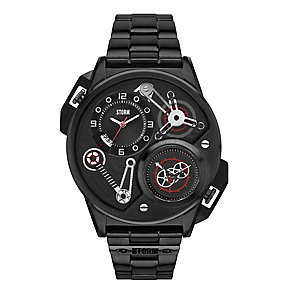 Storm Men's Dualtron Black & Red Stainless Steel Watch - Product number 2247313