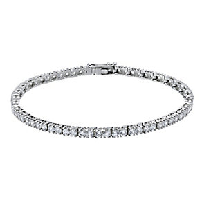 9ct white gold cubic zirconia tennis bracelet - Product number 2247321