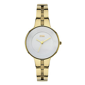 Storm Ladies' Rizzy White Dial Gold Tone Watch - Product number 2247437
