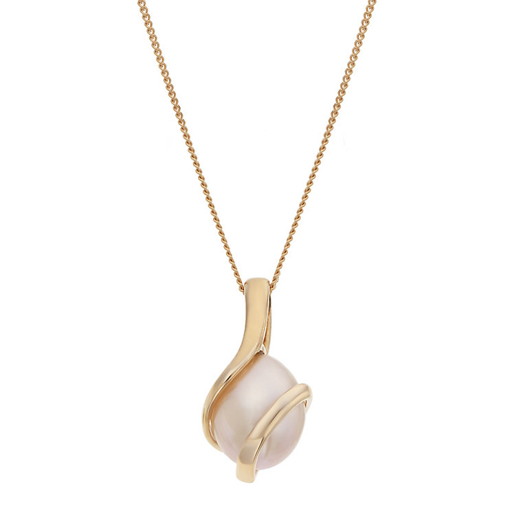 9ct rose gold cultured freshwater pearl wrap pendant - Product number 2247577
