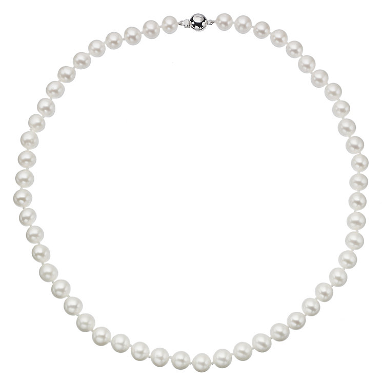 9ct white gold 7.5-8mm cultured freshwater pearl necklace - Product number 2247682