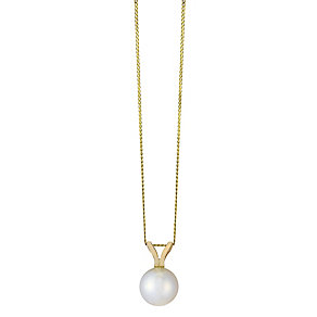 Sea Mist 9ct yellow gold cultured freshwater pearl pendant - Product number 2248069